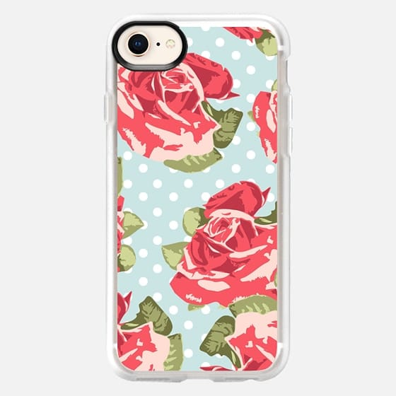 Vintage Floral and Polka Dots - Snap Case