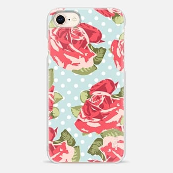 iPhone 8 Case Vintage Floral and Polka Dots