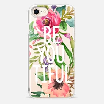 iPhone 8 ケース Be YOU Tiful Watercolor Floral