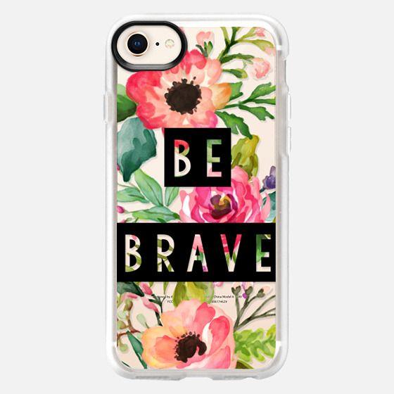 Be Brave Block Watercolor Floral - Snap Case