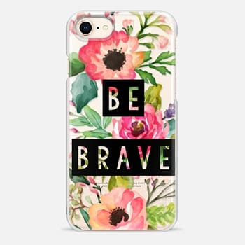 iPhone 8 ケース Be Brave Block Watercolor Floral