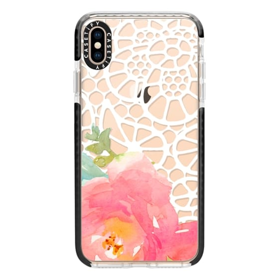 iPhone XS Max Cases - Floral and Doily Lace
