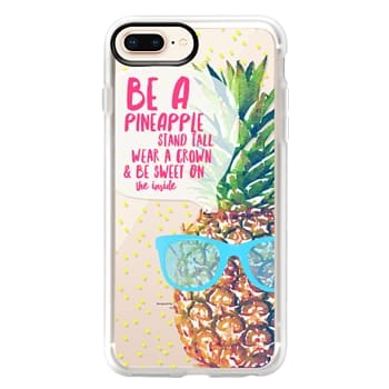 Grip iPhone 8 Plus Case - Be A Pineapple 1