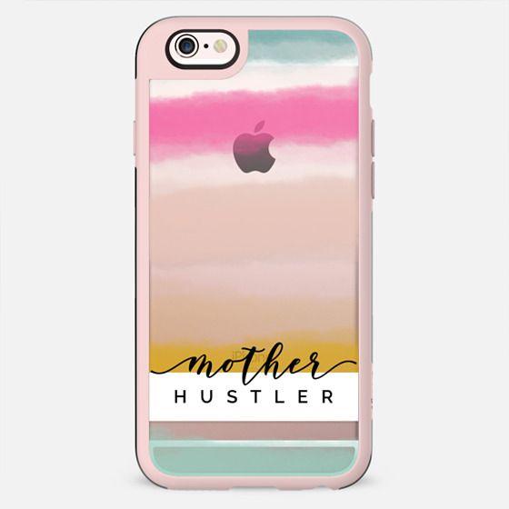 Mother Hustler | Watercolor Sunset Stripes - New Standard Case