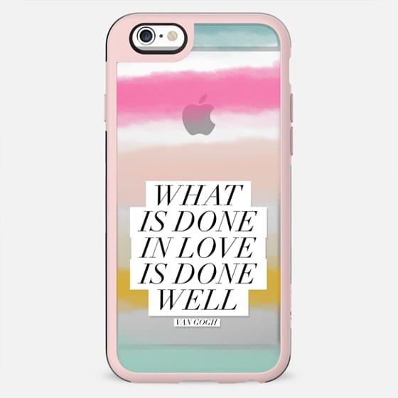 What is Done in LOVE | Watercolor Sunset Stripes - New Standard Case