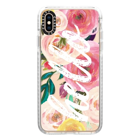 iPhone XS Max Cases - Hello Watercolor Floral 2