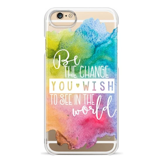 Impact iPhone XR Case - Be The Change You Wish To See In The World-Gandhi  Multi Watercolor