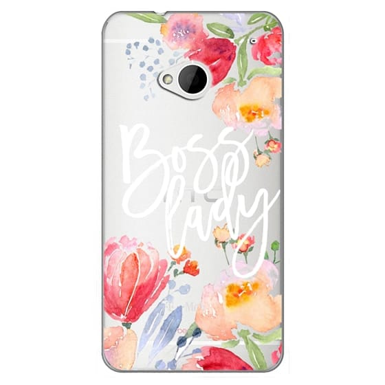 Htc One Cases - Boss Lady Watercolor Floral