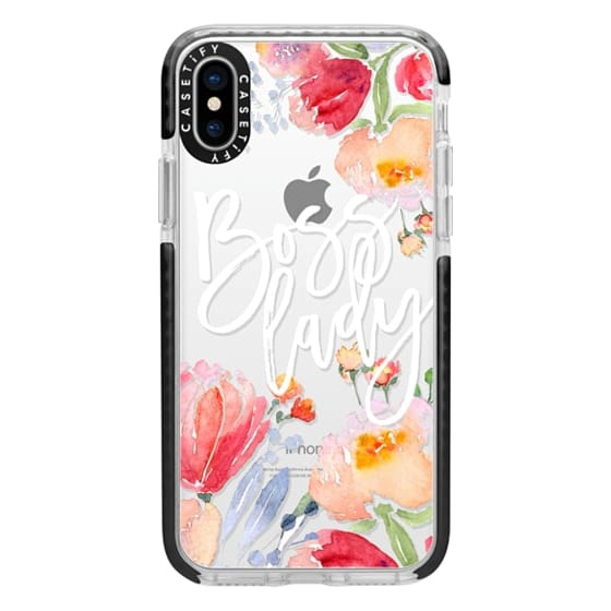 iPhone X Cases - Boss Lady Watercolor Floral
