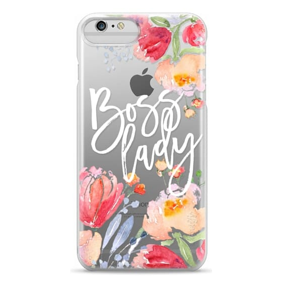 iPhone 6 Plus Cases - Boss Lady Watercolor Floral