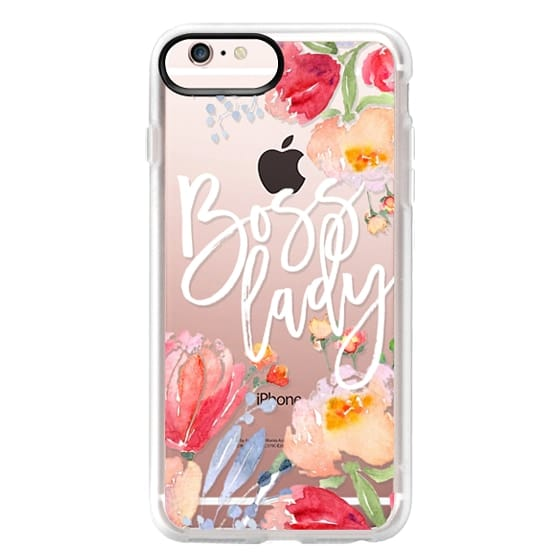 iPhone 6s Plus Cases - Boss Lady Watercolor Floral