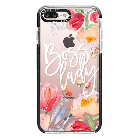 iPhone 7 Plus Cases - Boss Lady Watercolor Floral