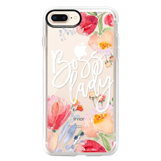 iPhone 8 Plus Cases - Boss Lady Watercolor Floral