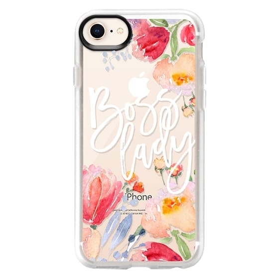 iPhone 8 Cases - Boss Lady Watercolor Floral