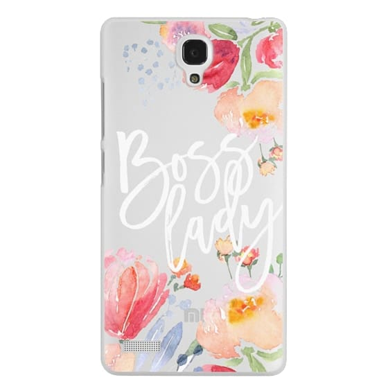 Redmi Note Cases - Boss Lady Watercolor Floral