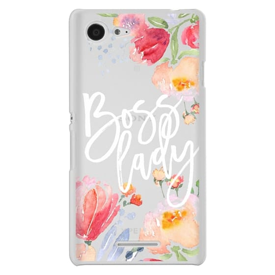 Sony E3 Cases - Boss Lady Watercolor Floral