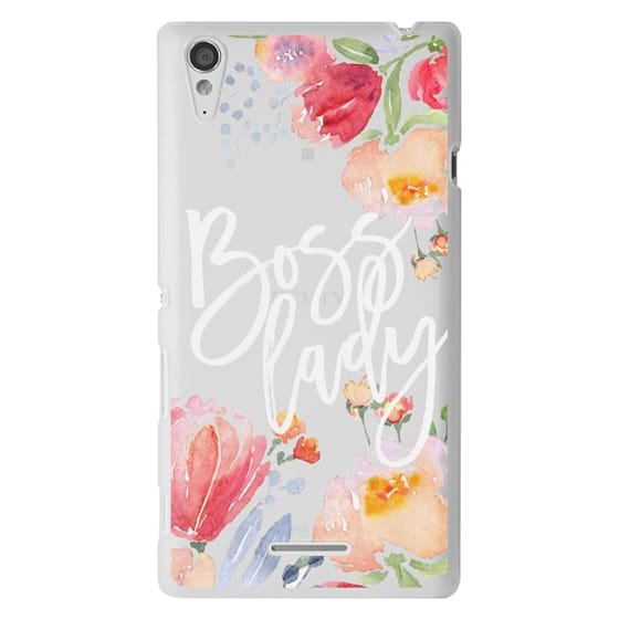 Sony T3 Cases - Boss Lady Watercolor Floral
