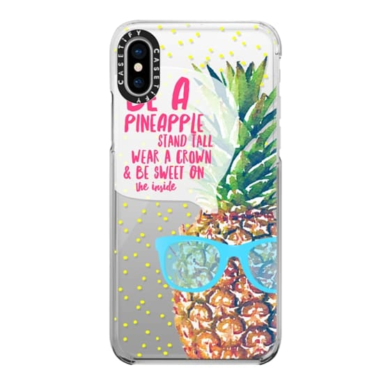 iPhone X Cases - Be A Pineapple 1