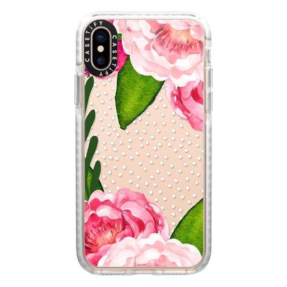 iPhone XS Cases - Floral and Confetti Dots