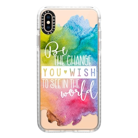 iPhone XS Max Cases - Be The Change You Wish To See In The World-Gandhi Multi Watercolor