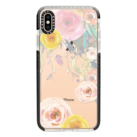 iPhone XS Max Cases - Light Watercolor Floral