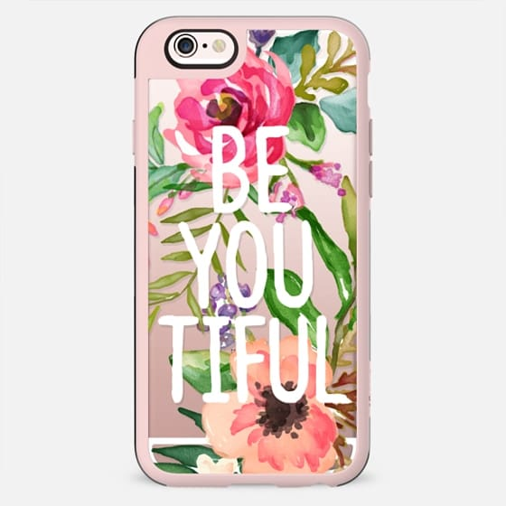 Be YOU Tiful Watercolor Floral - New Standard Case