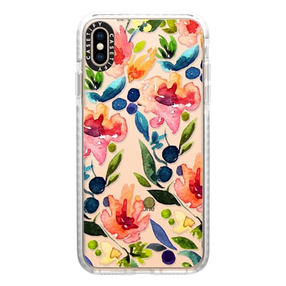 iPhone XS Max Cases - I Love Watercolor Flora | by Jande Summer