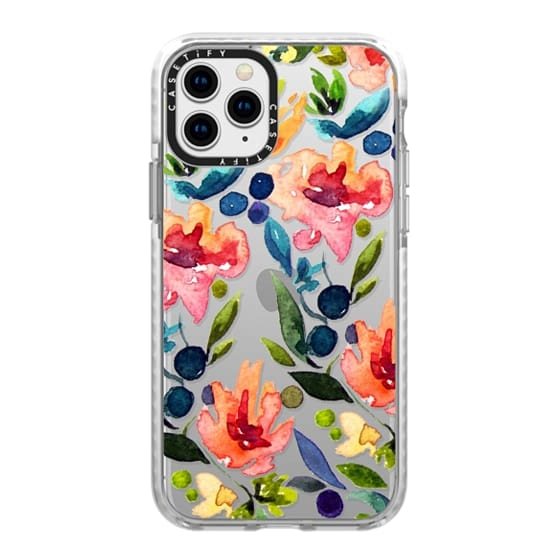iPhone 11 Pro Cases - I Love Watercolor Flora | by Jande Summer