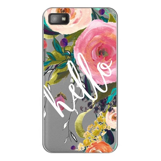 Blackberry Z10 Cases - Hello Watercolor Floral