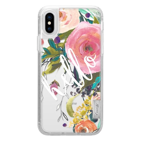 iPhone X Cases - Hello Watercolor Floral