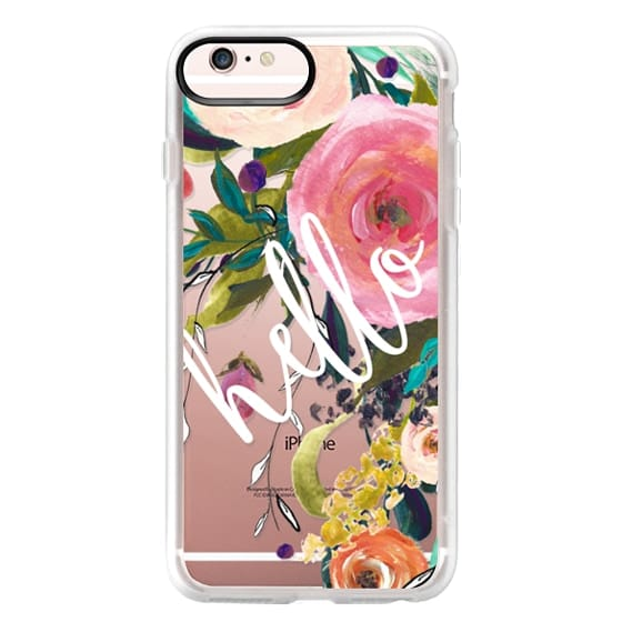 iPhone 6s Plus Cases - Hello Watercolor Floral