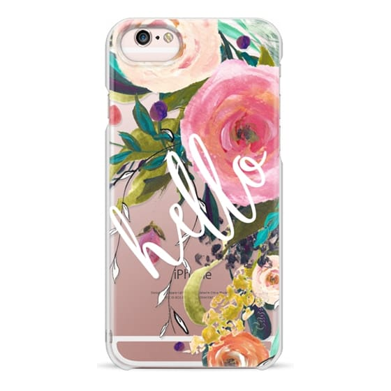 iPhone 6s Cases - Hello Watercolor Floral