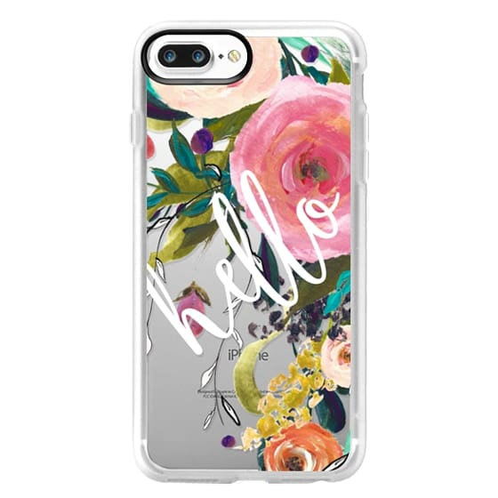 iPhone 7 Plus Cases - Hello Watercolor Floral