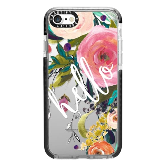iPhone 7 Cases - Hello Watercolor Floral