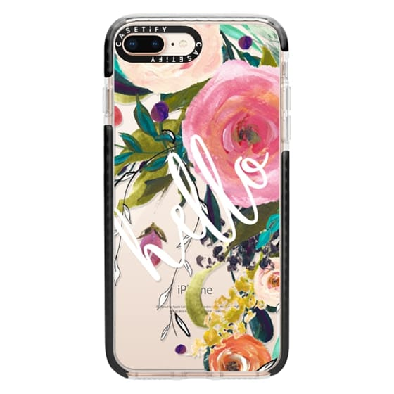 iPhone 8 Plus Cases - Hello Watercolor Floral