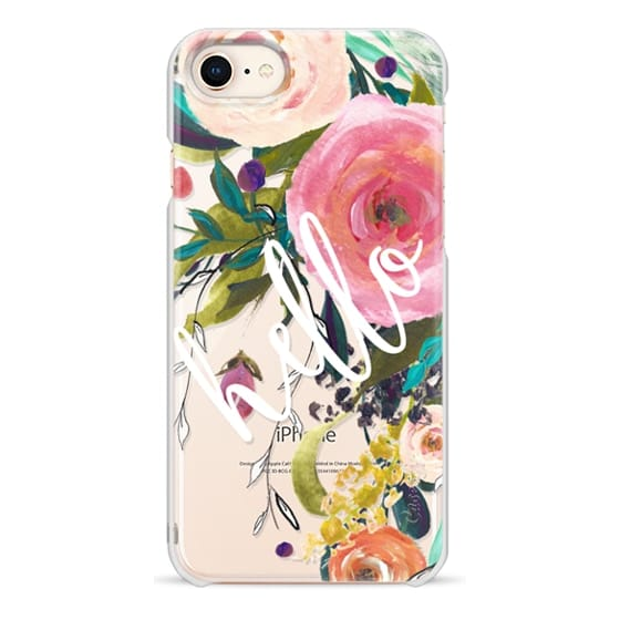 iPhone 8 Cases - Hello Watercolor Floral