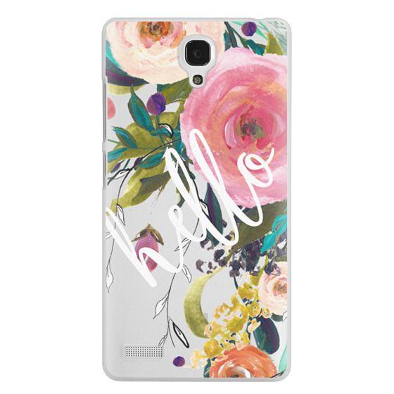Redmi Note Cases - Hello Watercolor Floral