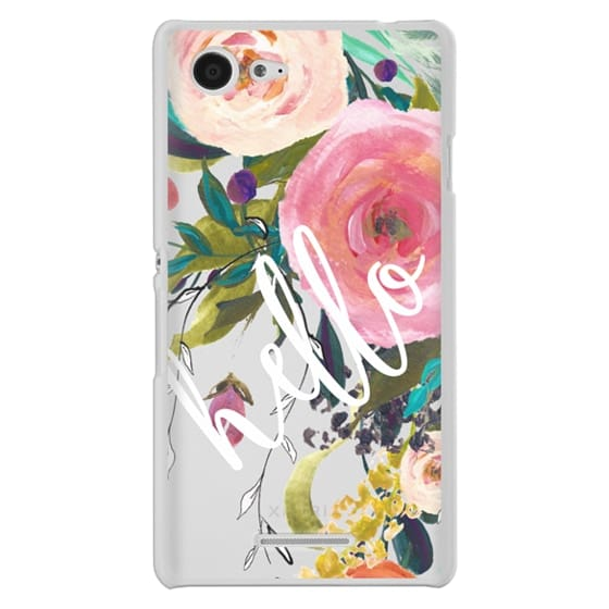 Sony E3 Cases - Hello Watercolor Floral
