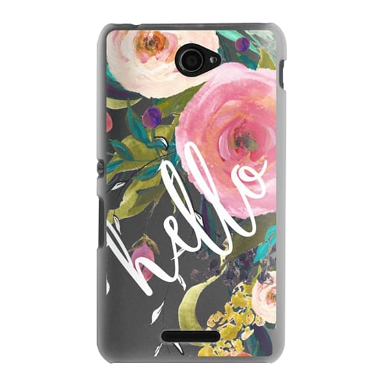 Sony E4 Cases - Hello Watercolor Floral