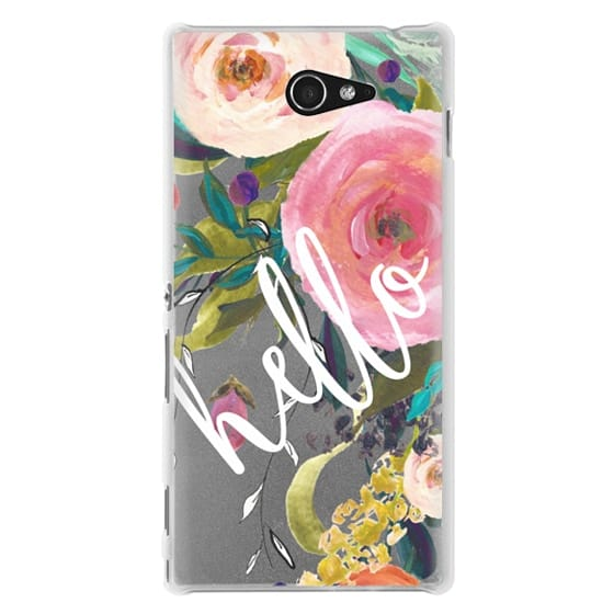 Sony M2 Cases - Hello Watercolor Floral