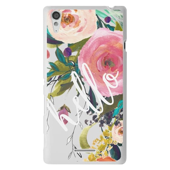 Sony T3 Cases - Hello Watercolor Floral