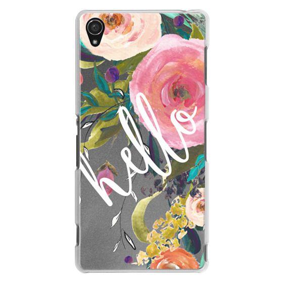Sony Z3 Cases - Hello Watercolor Floral