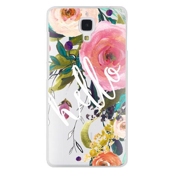 Xiaomi 4 Cases - Hello Watercolor Floral