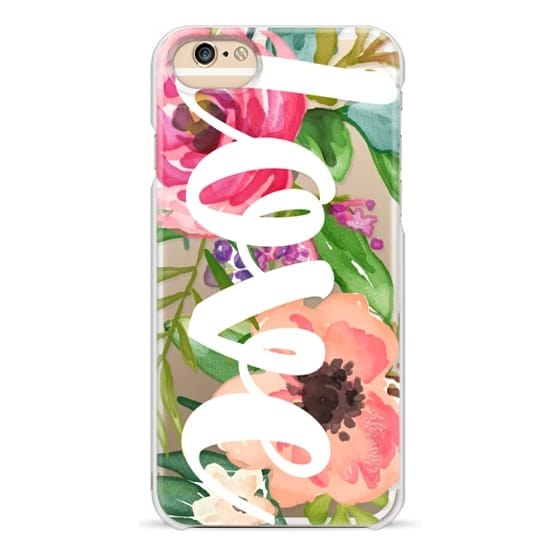 iPhone 4 Cases - LOVE Watercolor Floral