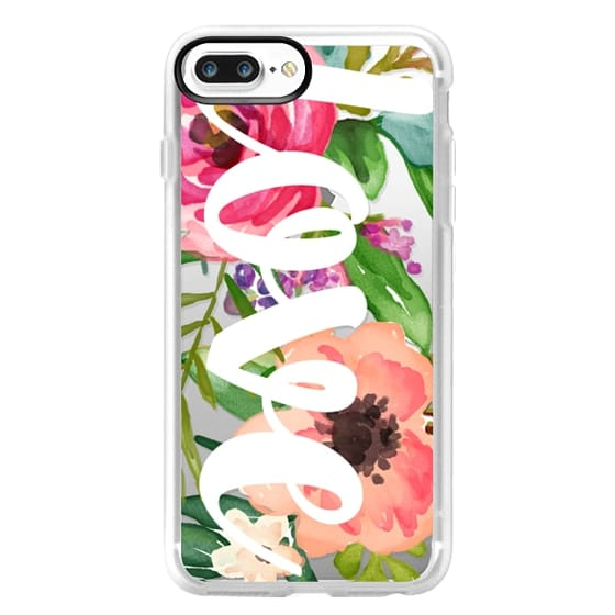 iPhone 7 Plus Cases - LOVE Watercolor Floral
