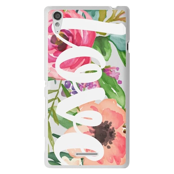 Sony T3 Cases - LOVE Watercolor Floral