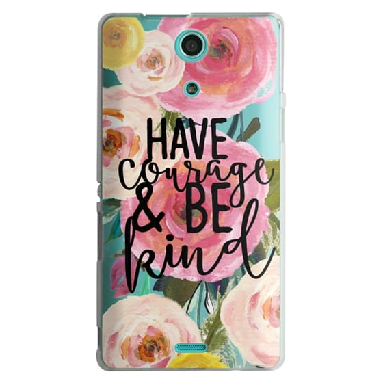 Sony Zr Cases - Have Courage and Be Kind Floral