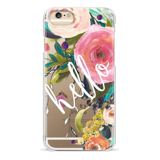 iPhone 6 Cases - Hello Watercolor Floral