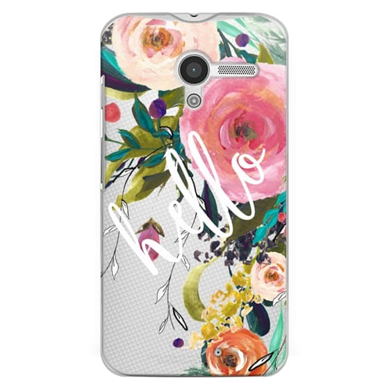 Moto X Cases - Hello Watercolor Floral