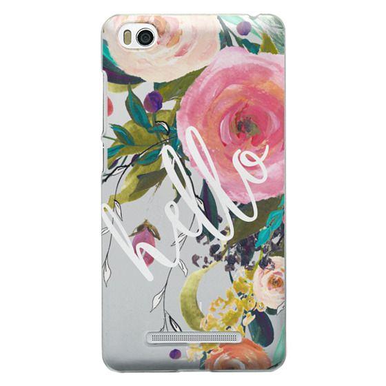Xiaomi 4i Cases - Hello Watercolor Floral